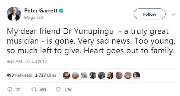Peter Garrett Twitter
